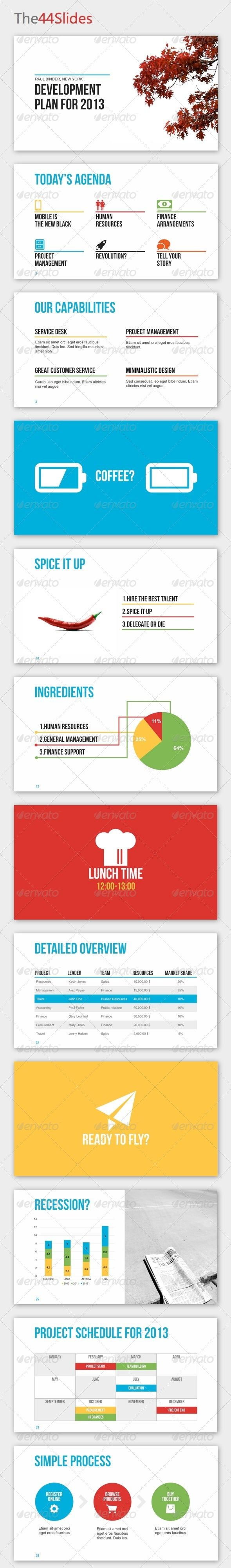 The44Slides Powerpoint Template - Business Powerpoint Templates