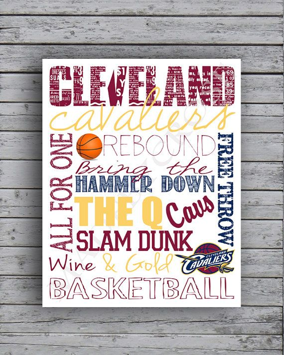 Cleveland Cavaliers Subway Art -Print    ~The sign is printed on Epsons Premium Presentation Paper; Ultra smooth, non-glare, heavy-weight