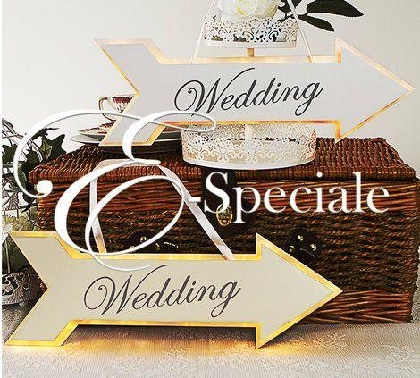 Freccia Illuminata Wedding - Prodotti Tema Vintage - Shabby Chic - Shop Per Tema - accessori e gadget per matrimoni e feste - E-speciale