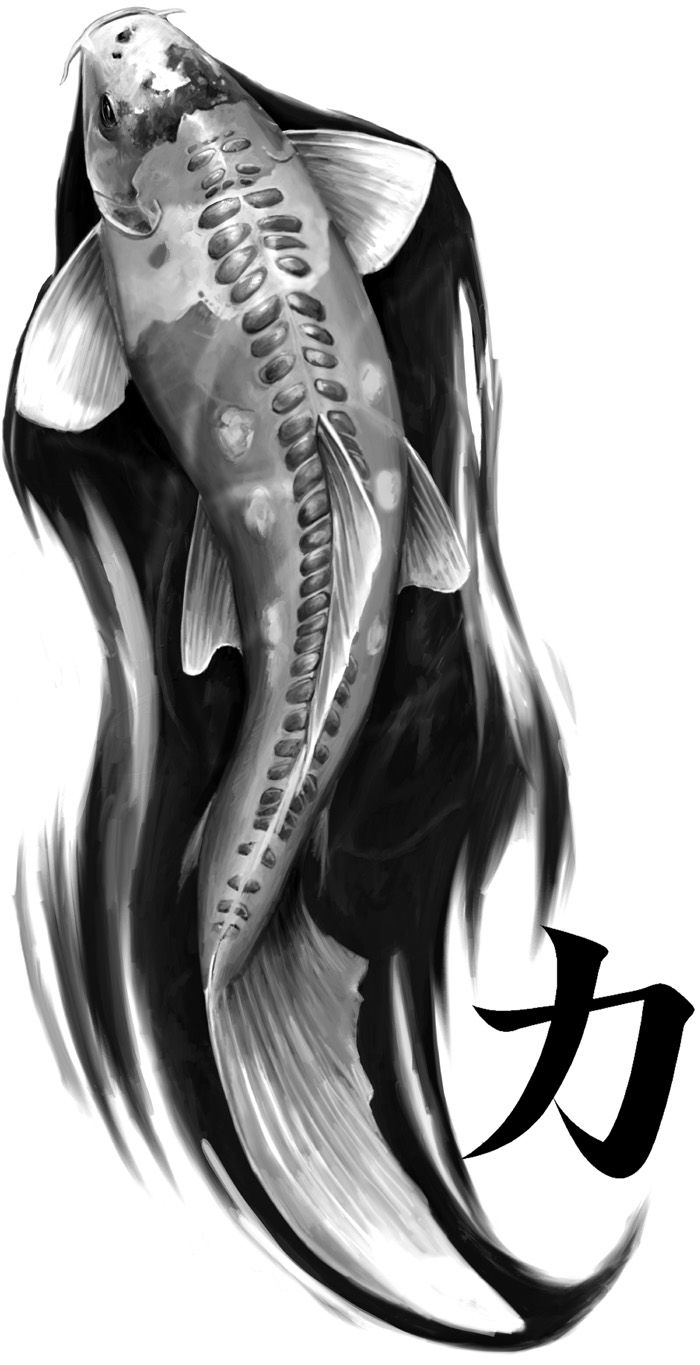 Koi Tattoo Design by stevegoad.deviantart.com on @deviantART