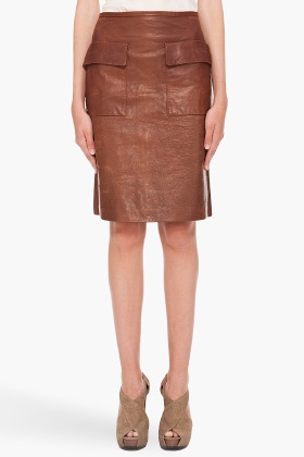 Phillip Lim leather skirt. $695.