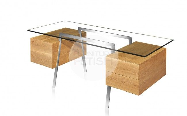 """This Replica Niels Bendtsen Designer desk is an excellent way to ad elegance to your home or office. The balanced characteristics of the desk are iconic of Niels bendtsen's work, and he preserves the desk's modern look through innovative design that allows the drawers to """"levitate"""" underneath the glass."""