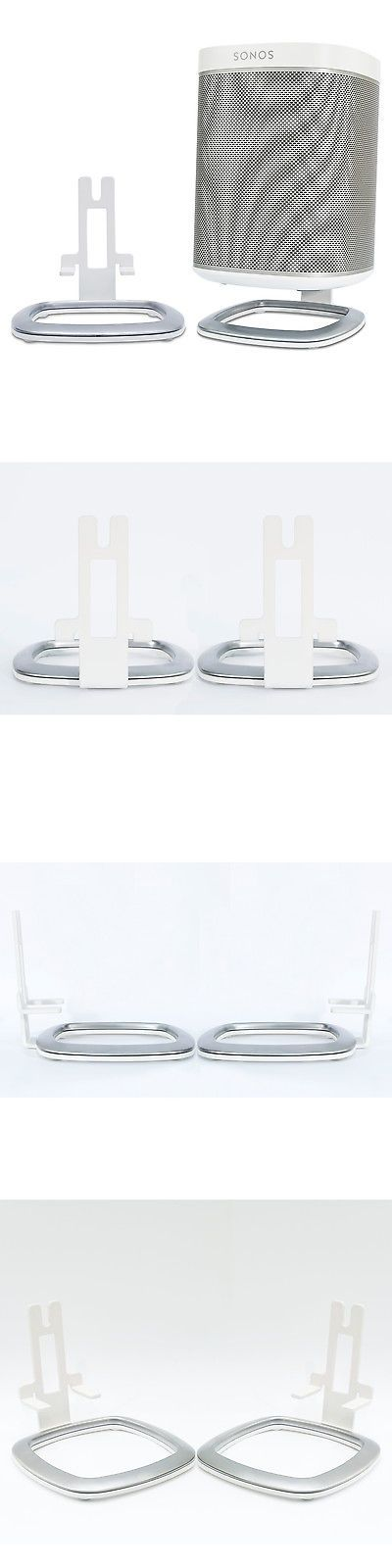 Speaker Mounts and Stands: Flexson Desk Stands For Sonos Play:1 Wireless Speaker - Pair (White) -> BUY IT NOW ONLY: $49.0 on eBay!