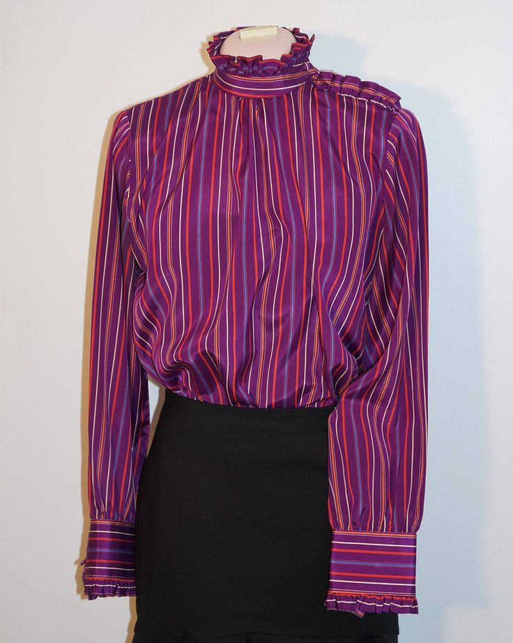 This beautiful blouse has been added to the shop.  Sure to brighten any cold, dark winter day.
