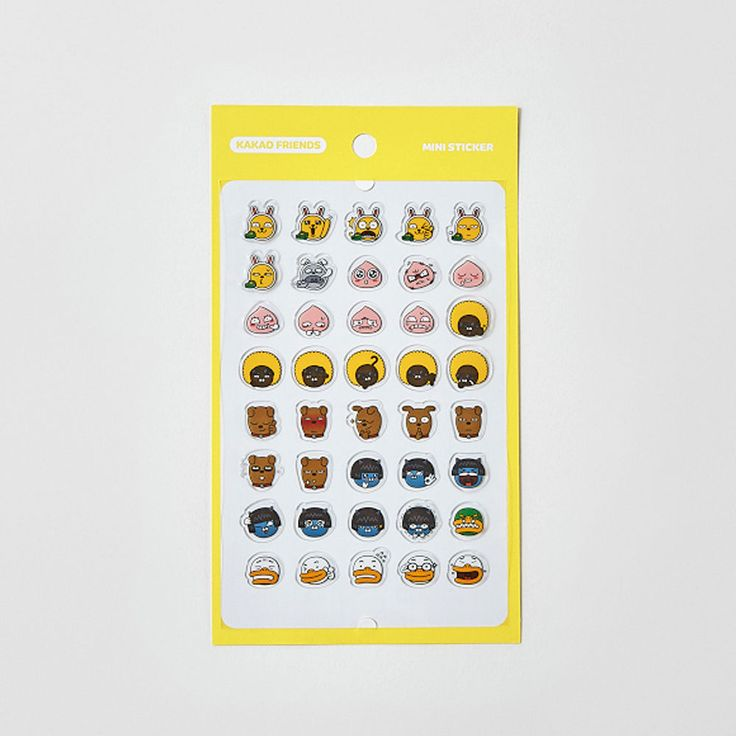 Korea Kakao Talk Friends Character Transparent Mini Sticker Face #KakaoFriends #Transparentstickers