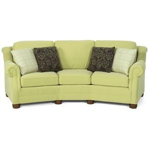Awesome Bayside Casual Conversation Sofa With Rolled Arms And Bun Feet By Temple  Furniture