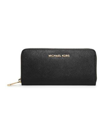 Jet Set Saffiano Continental Saffiano Wallet by MICHAEL Michael Kors at Neiman Marcus.