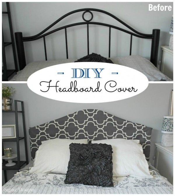Easy No-Sew Headboard Slipcover Tutorial