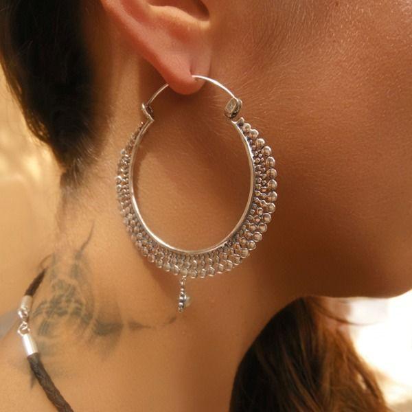 Creolen - Silber Ohrringe - Silber Creolen - ein Designerstück von ronyibiza bei DaWanda