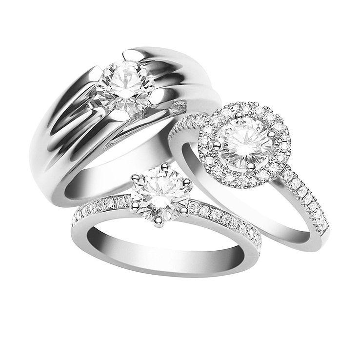 18CT Diamond Engagement Rings