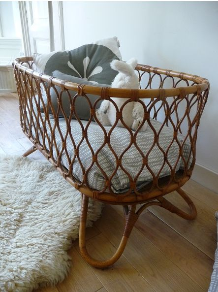 Rattan Bassinet Decor