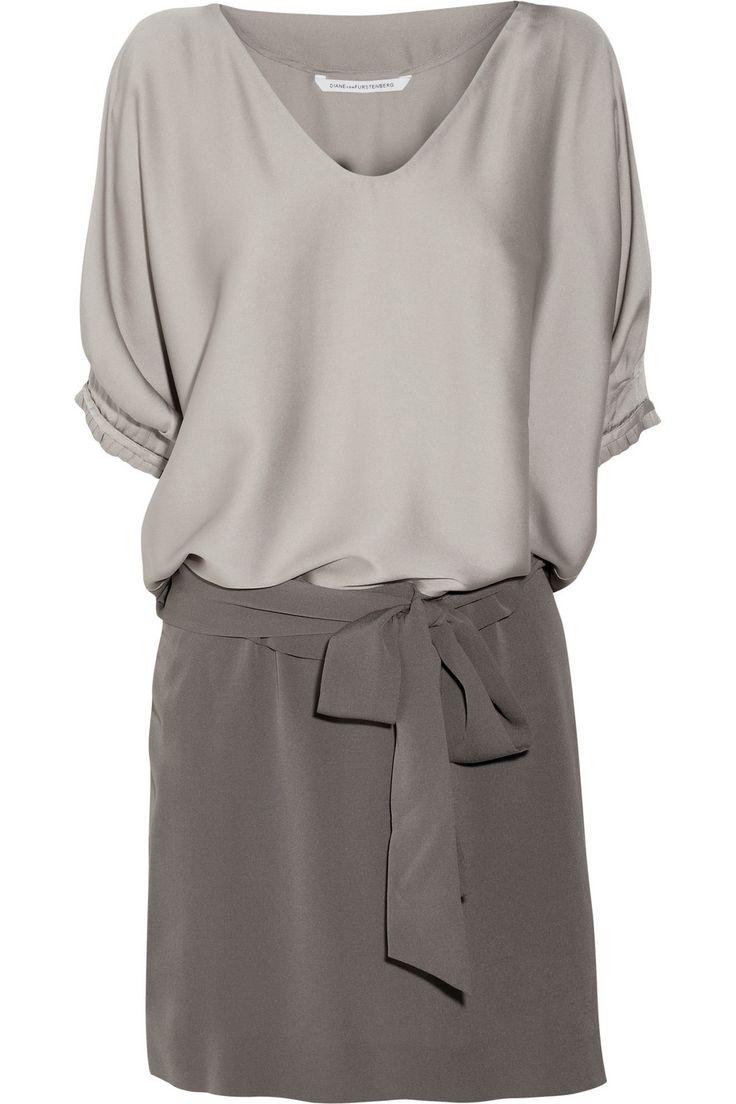 Edna stretch-silk satin and silk-crepe dress by Diane von Furstenberg                                                                                                                                                     More