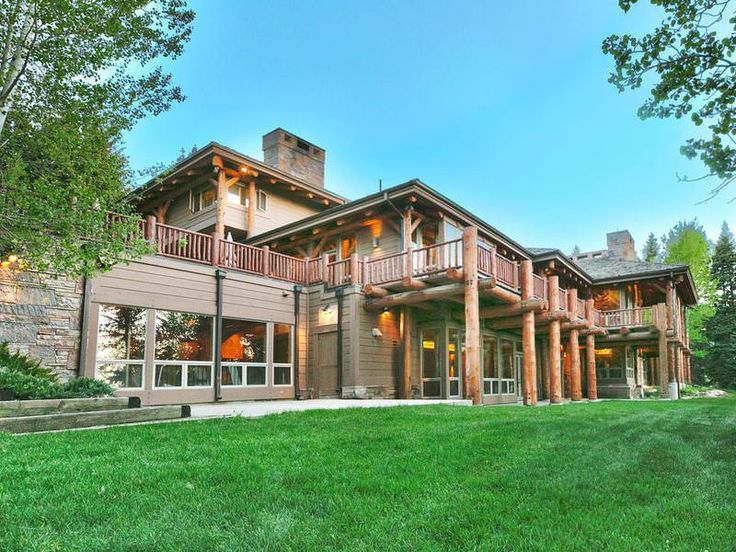 Mansion Dream House Billionaire Jon Huntsman S Log Cabin