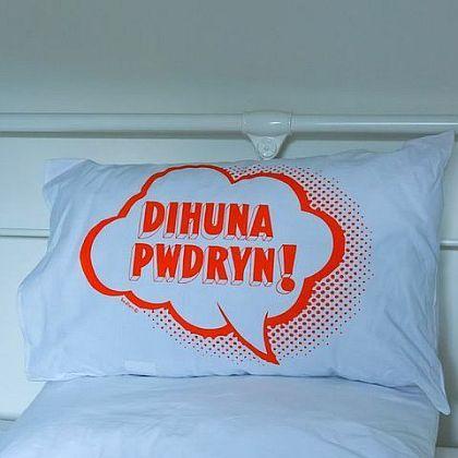 Wake Up Lazybones! Pillowcase