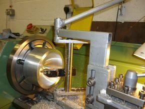 Homemade Large Radius Lathe Tool Fabricated From Steel