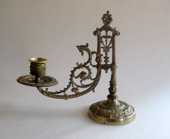 Brass candle holder Vintage church candle by VerbruggeWatercolor