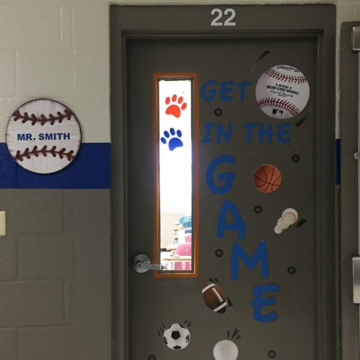Classroom door decor for male teachers