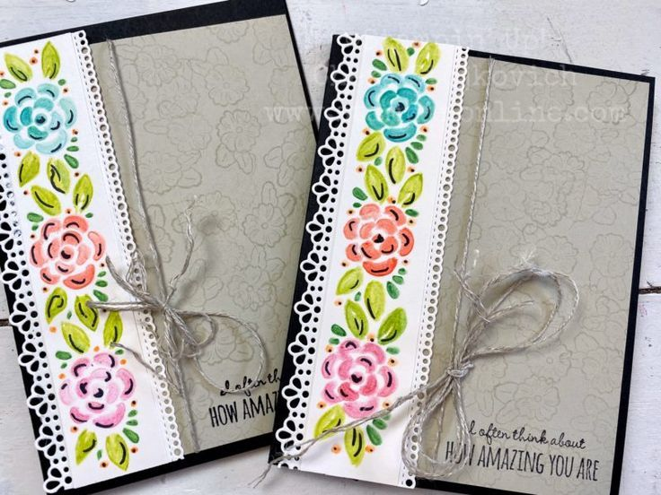 Use Stampin Up! Dies to Create Watercolor Pencil Stencils