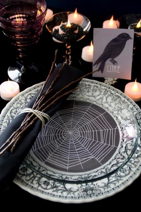 189 best Halloween Table Settings images on Pinterest | Holidays ...
