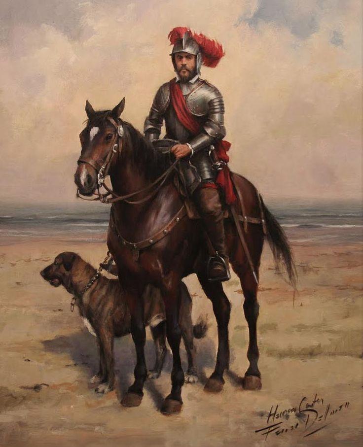 Augusto Ferrer-dalmau: Hernán cortés.