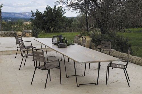 table manger rectangulaire de jardin contemporaine durban by ferruccio laviani unopiu. Black Bedroom Furniture Sets. Home Design Ideas