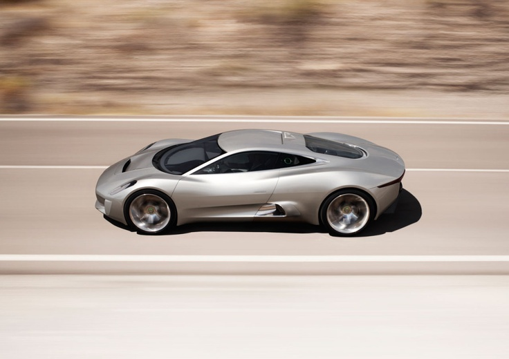 Jaguar supercar C-X75 has been designed to celebrate 75 years of the marque and provide a glimpse into the future of Jaguar.  The 330km/h (205mph) four-wheel drive supercar is capable of running in purely electric (zero tailpipe emissions) mode for 110km (68 miles) on a six-hour domestic plug-in charge, giving the car a theoretical range of 900km (560 miles).