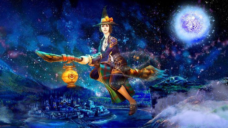 Ночь на Хэллоуин. Волшебство полета..jpg