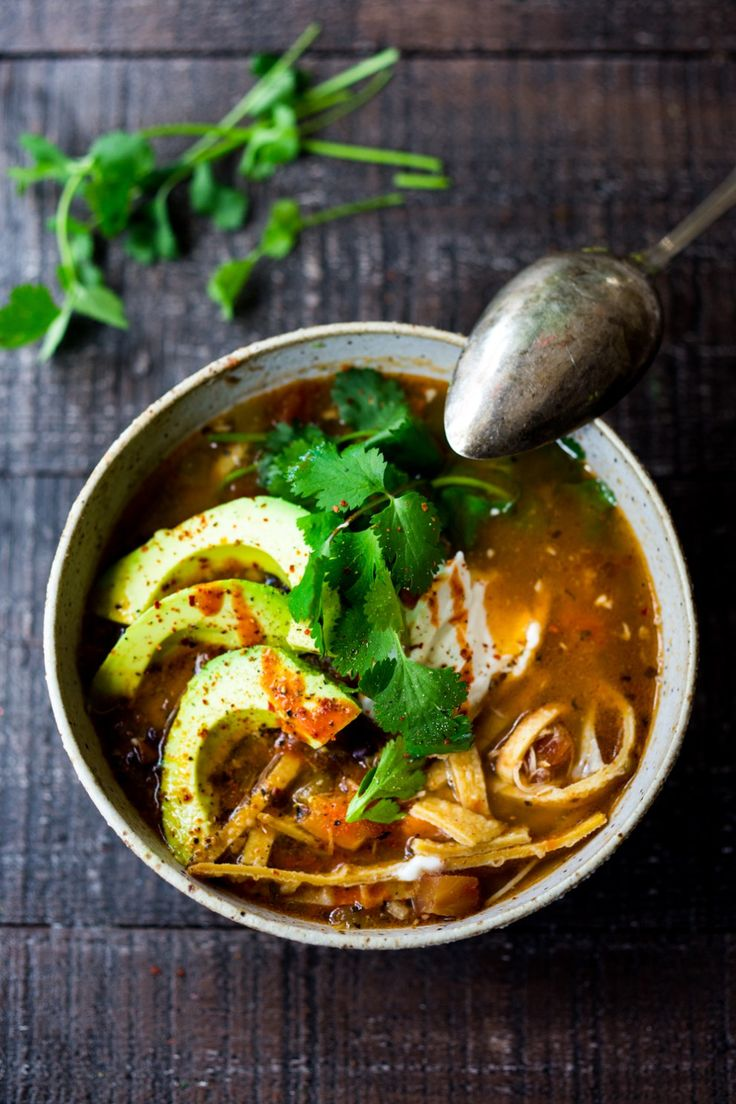 Creamy Chicken Tortilla Soup Recipe Food Network