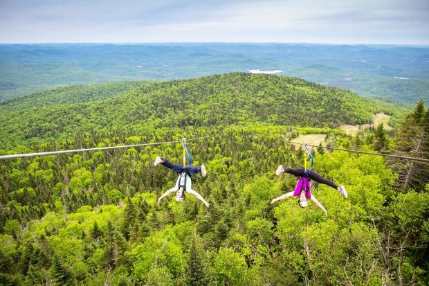 Ziplining in Mont Tremblant, Canada. For those planning ahead for summer vacation.