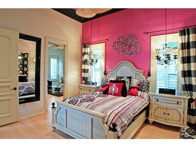Pink Black Bedroom Mediterra Naples Florida