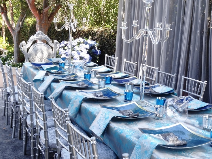 Turquoise And Silver Wedding With Chiavari Chairs Crush Velvet Cusions