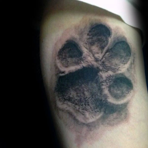 70 Dog Paw Tattoo Designs For Men - Canine Print Ink Ideas ...
