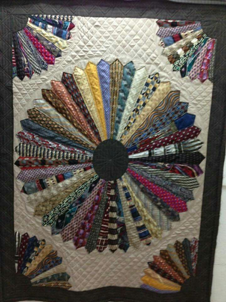 Quilt made with neck ties