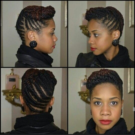 Flat Twist Updo | Toni of My Natural Sistas