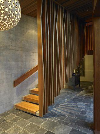 Te Kaitaka - Wanaka - New Zealand. by architects Stevens Lawson. I love me some texture and light/shadow play!