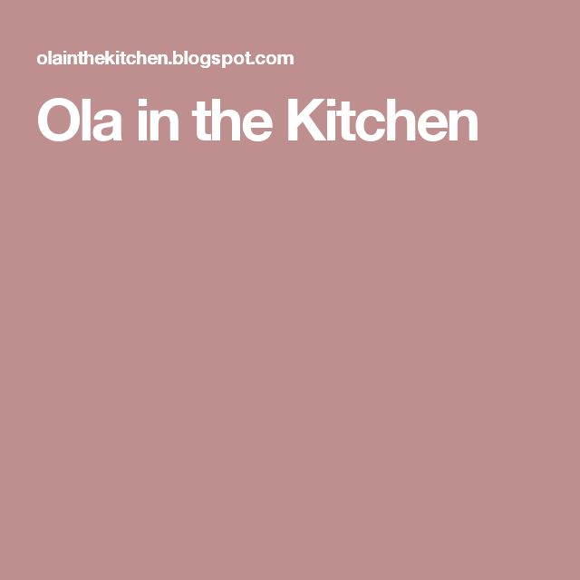 Ola in the Kitchen