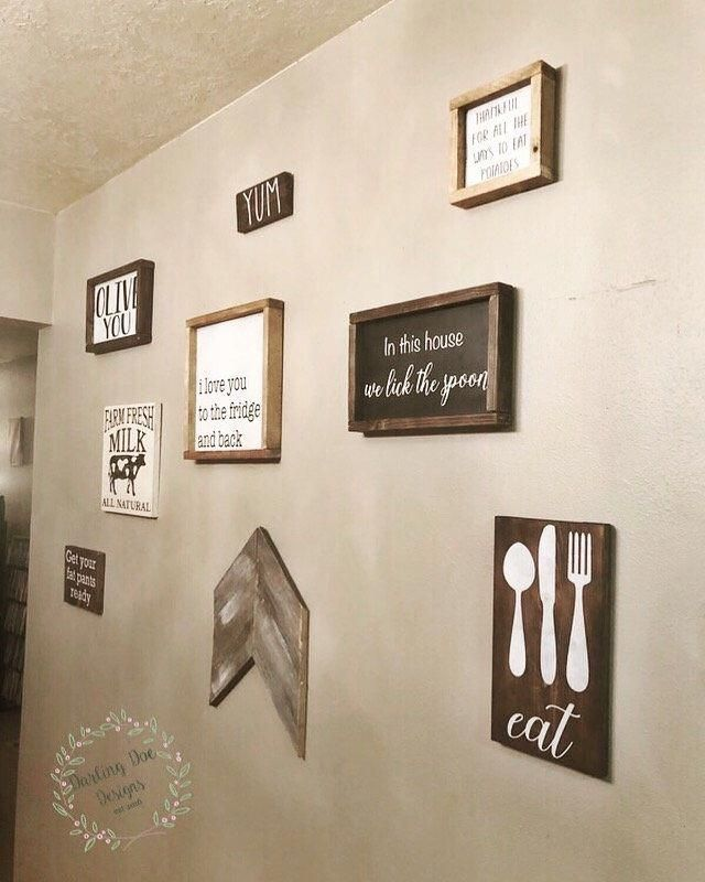 dining room decor Farmhouse decor Farmhouse wall art Get Your Fat Pants Ready sign kitchen decor framed farmhouse signage