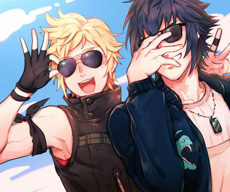 Final Fantasy XV / Noctis and Prompto being proper dorks and the best of friends.