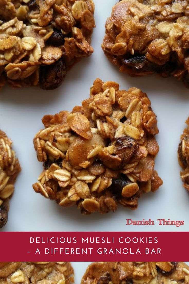 Delicious muesli cookies – a different muesli bar