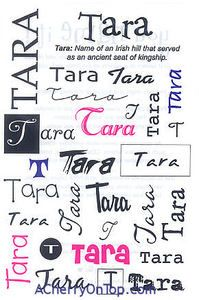 Tara - Irish name meaning Goddess of the sea.  Sanskrit name meaning shining or star.: Irish Girls, Goddesses, Stars, Stickers Galor