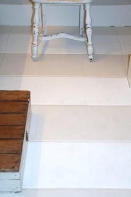 grungy tile floor facelift