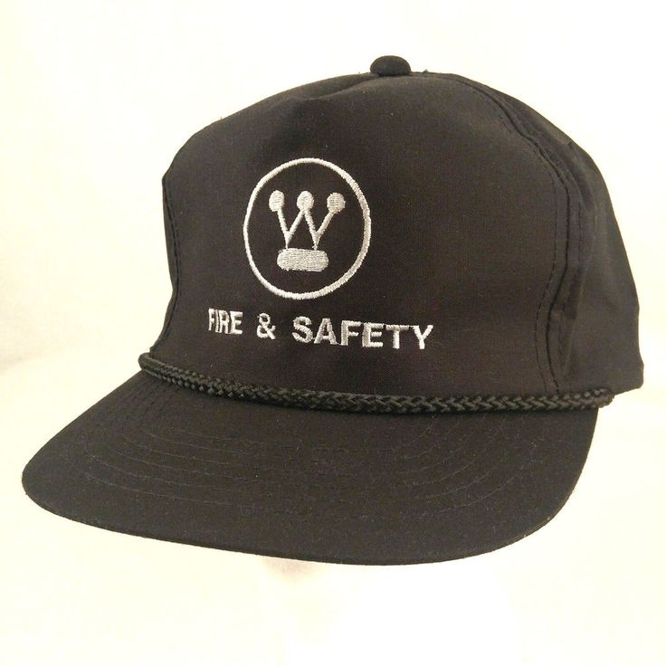 Westinghouse Electric Fire and Safety Black Baseball Cap Hat Adjustable Snapback #Youngan #BaseballCap