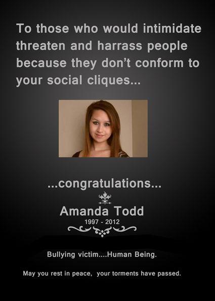 RIP Amanda Todd ;(