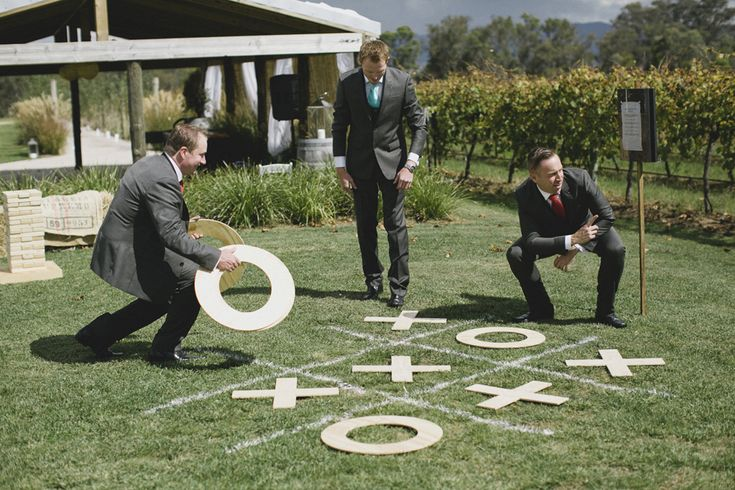 Giant noughts & crosses wedding game. Image: Cavanagh Photography http://cavanaghphotography.com.au