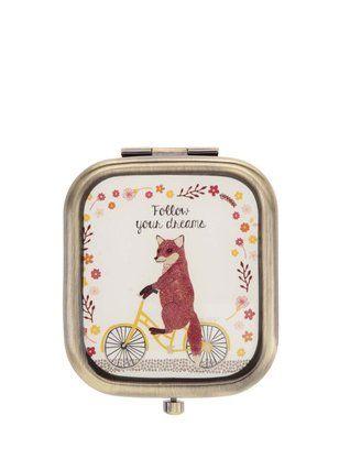 Sass & Belle - Kompaktní zrcátko s liškou  Fox On Bike - 1