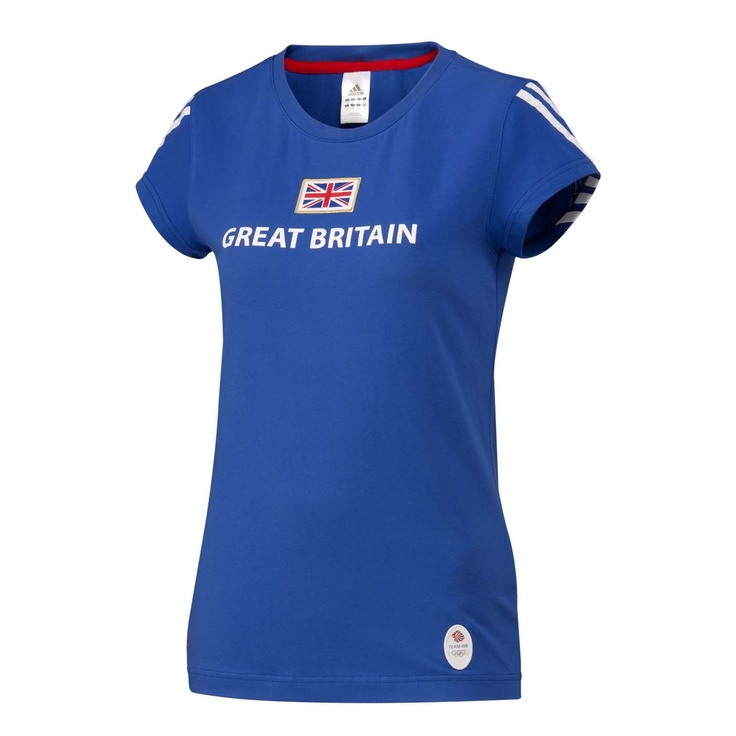 Team GB Olympic adidas Great Britain women's t-shirt, , original  I'd definitely go harder at the gym wearing one of these. If only for all the Aussie's throwing things at me hehe