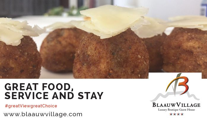 It's all about good food at BlaauwVillage Boutique Guest House. #greatFoodgreatChoice