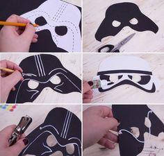 Como hacer Mascaras Star Wars                                                                                                                                                                                 Más