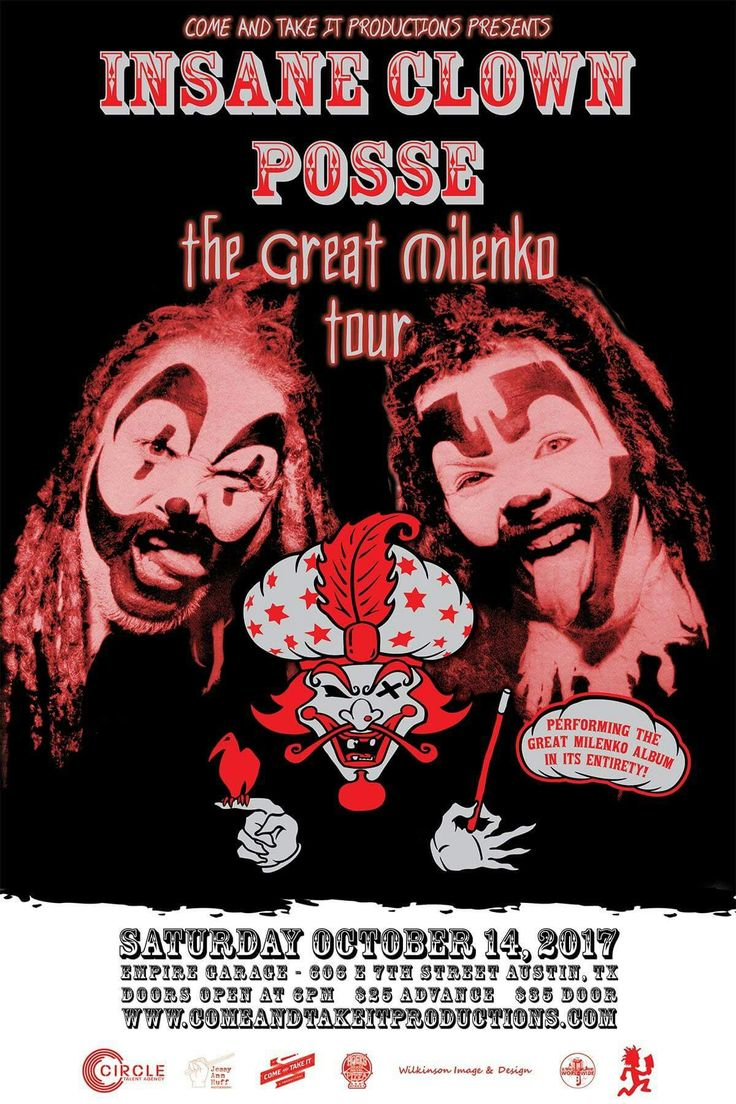 ICP The Great Milenko 20th Anniversary Tour Empire Garage Austin,Texas 10/14/17
