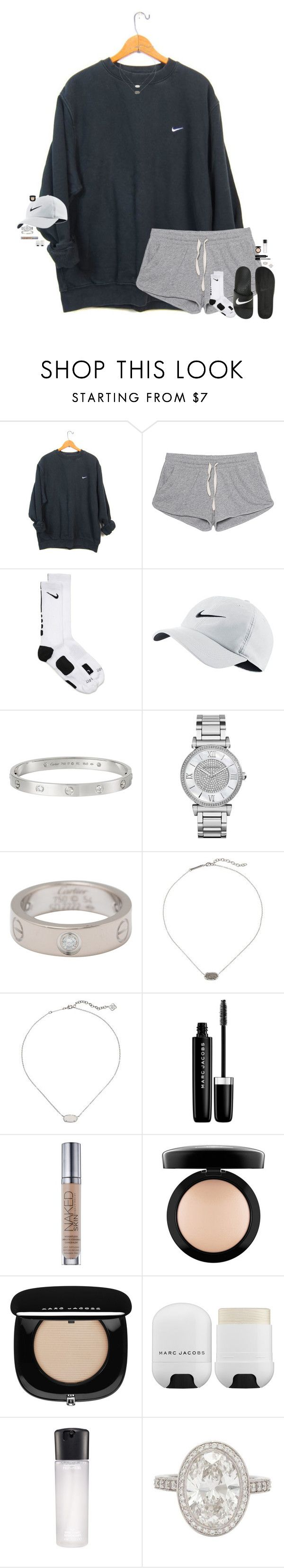 lol no. by maggie-prep ❤ liked on Polyvore featuring NIKE, American Vintage, Cartier, Michael Kors, Kendra Scott, Marc Jacobs, Urban Decay, MAC Cosmetics and Tiffany Co.